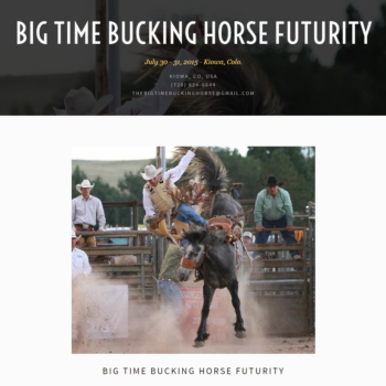 Big Time Bucking Horse Futurity Rodeo
